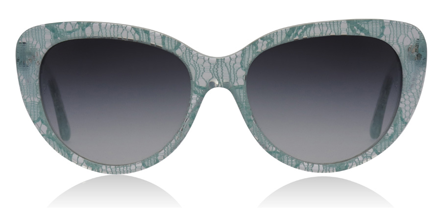 Dolce and Gabbana Lace Sonnenbrille Blaues Spitzenmuster 2729/8G 54mm 6uomT