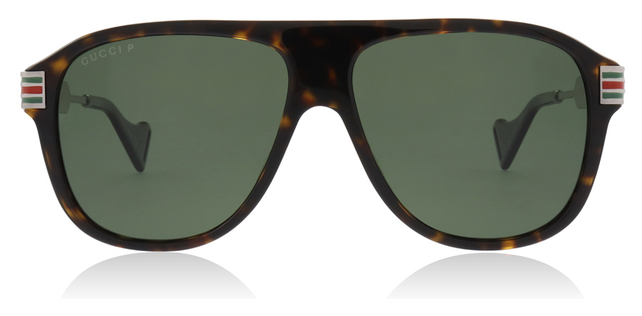 Gucci GG0587S Havana / Ruthenium 002 57mm Polarisiert