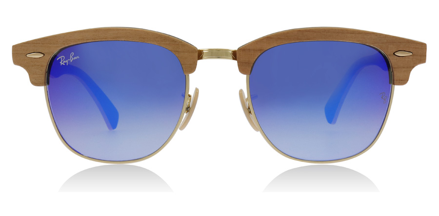 Ray-Ban RB3016M Sonnenbrille Holz / Gold 1180R5 51mm PoYJXXJ