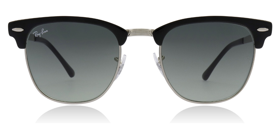 Ray-Ban Clubmaster RB3716 Silber/ Schwarz 900471 51mm