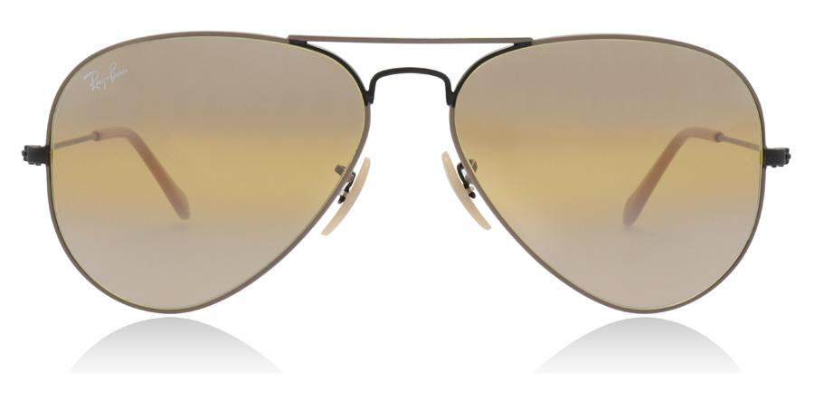 Ray-Ban Aviator RB3025 Black / Beige 9153AG 58mm