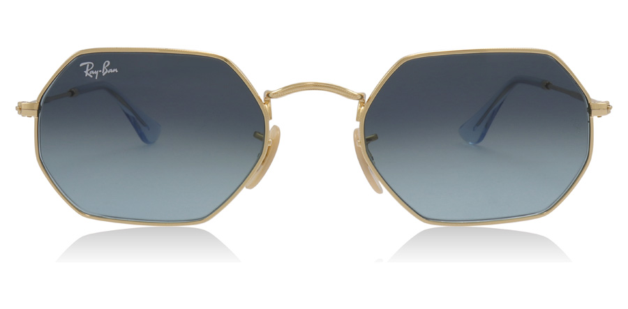Ray-Ban Octagonal RB3556N Gold 91233M 53mm