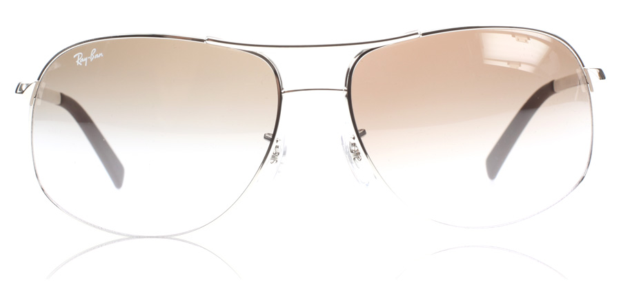 Ray-Ban RB3387 3387 Silber 003/68 64mm