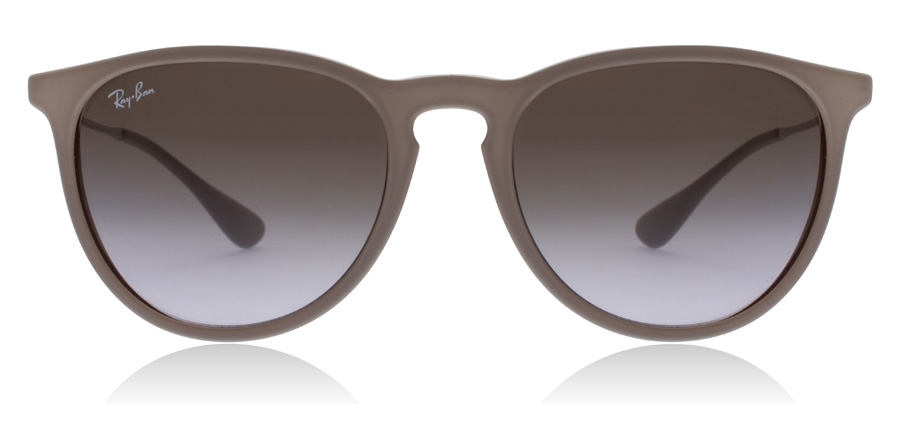 Ray-Ban Erika RB4171 Dunkles Gummi 600068 54mm