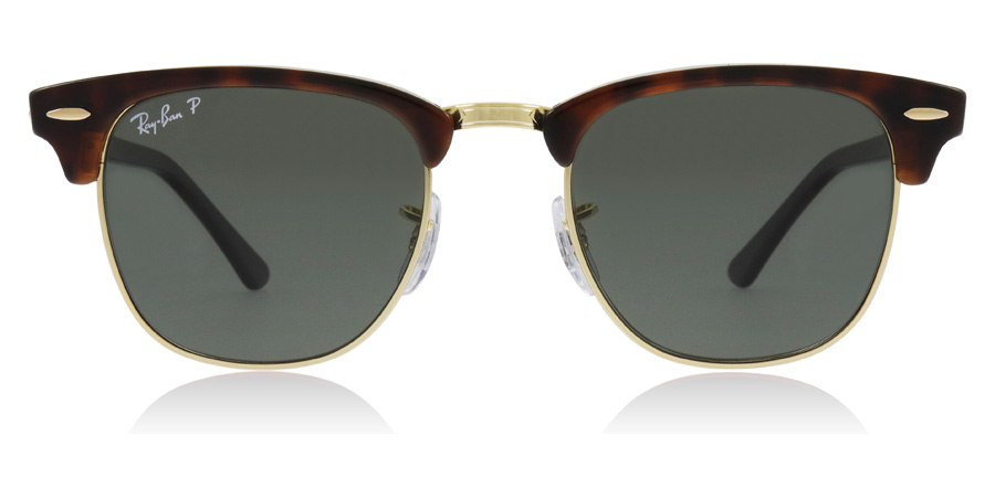 Ray-Ban Clubmaster RB3016 Rot Havanna 990/58 49mm Polarisiert