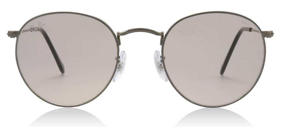 Ray-Ban Round Solid Evolve Metal RB3447 004/T5 Gunmetal 50mm
