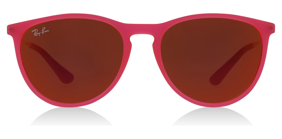 Ray-Ban Junior RJ9060S Age 8-12 Years Leuchtendes Fuchsia transparent gummiert 70096Q 50mm