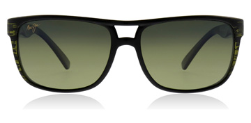 Maui Jim Waterways Sonnenbrille Olivgrün gestreift 15C Polarisiert 58mm wfGgyY4uQ