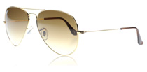 Ray-Ban 3025 Aviator Arista 001/51 Medium 58mm