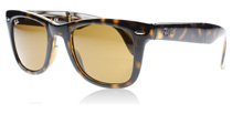 Ray-Ban 4105 Folding Wayfarer Helles Havana 710 Medium 50mm