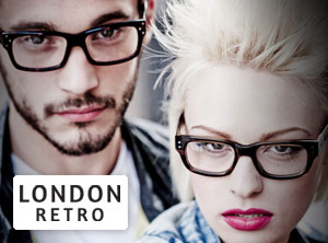 London Retro glasses from Designer Glasses Shop